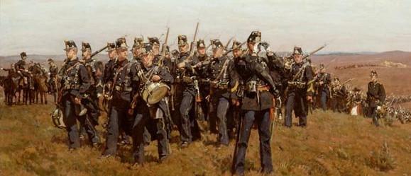 Opmars bataljon infanterie opo de heide