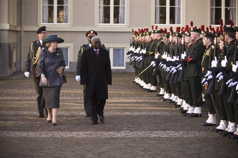 Erewacht bezoek president Mozambique